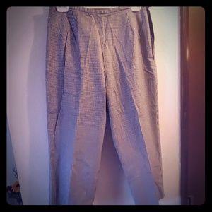 Worthington black and white plaid pants